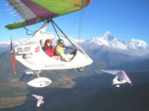 ultralight flight pokhara nepal