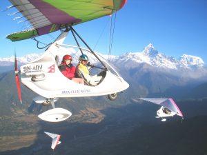 ultralight flight pokhara nepal