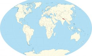 Nepal in the World Map