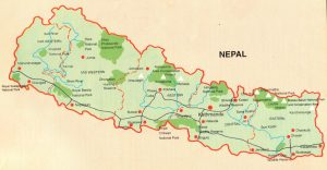 Tourist Map of Nepal