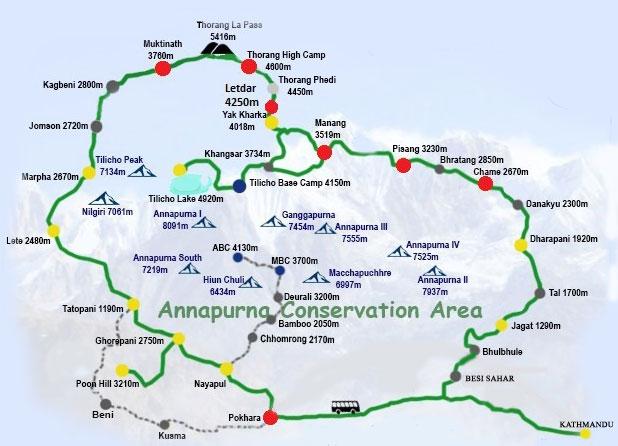 Annapurna Circuit Route