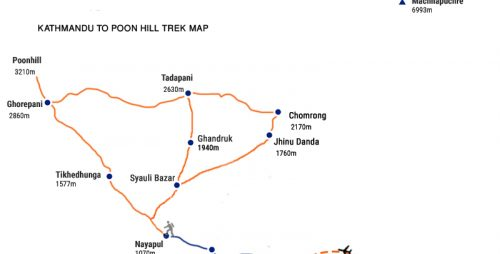 Poon HIll Trek route map