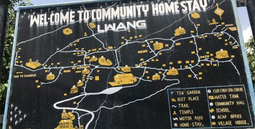 Lwang Village Homstay map