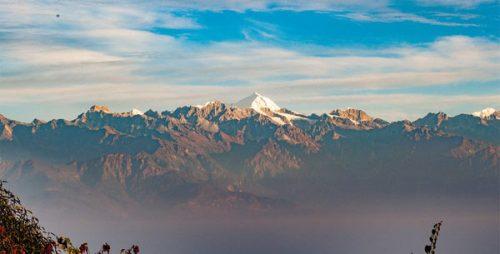 Mountain view from Nagarkot Nepal