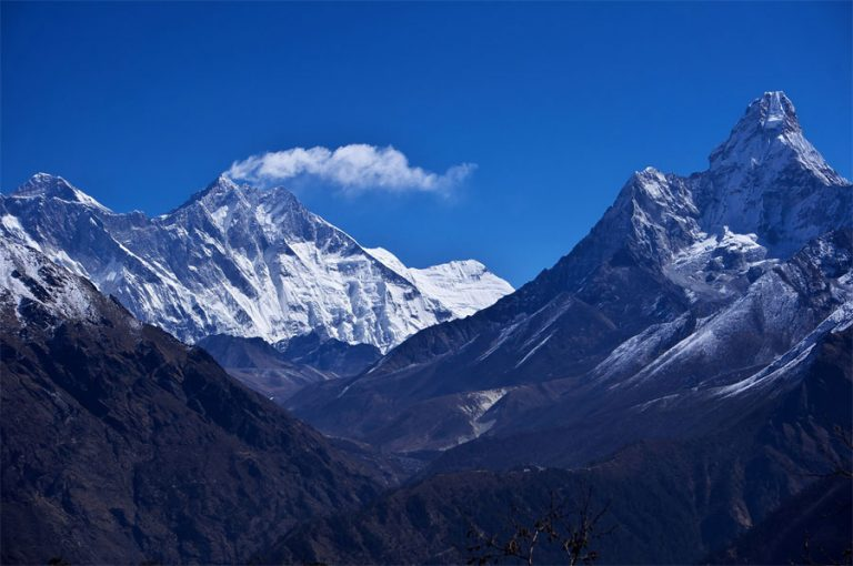 Namche Bazaar Trek view from the Everest view hotel