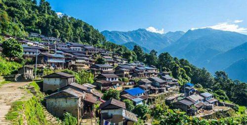 Sikles Village 37.6 km from Pokhara, the gateway Kapuche Lake trek